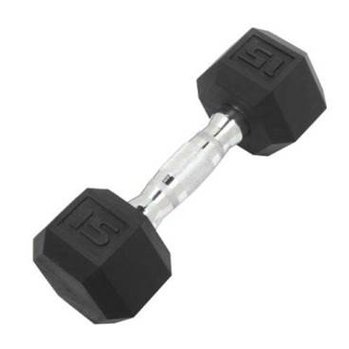 DB6101 Rubber Hex Dumbbell: 15lb 1