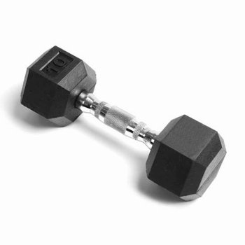 DB6101 Rubber Hex Dumbbell: 10lb 1