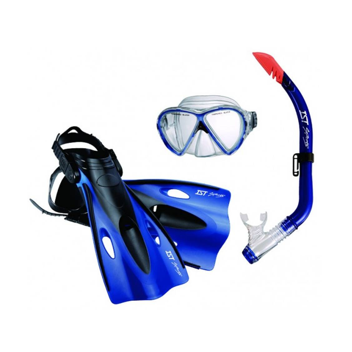 9192030335 – CCFJ02P-CB-L.XL – Junior Mask & Snorkel & Fins Set Blue