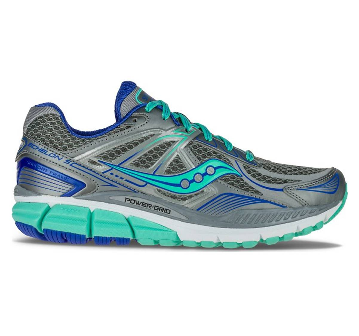 Saucony Echelon 5 Running Shoe GreyMintBlue Women Shoes [F