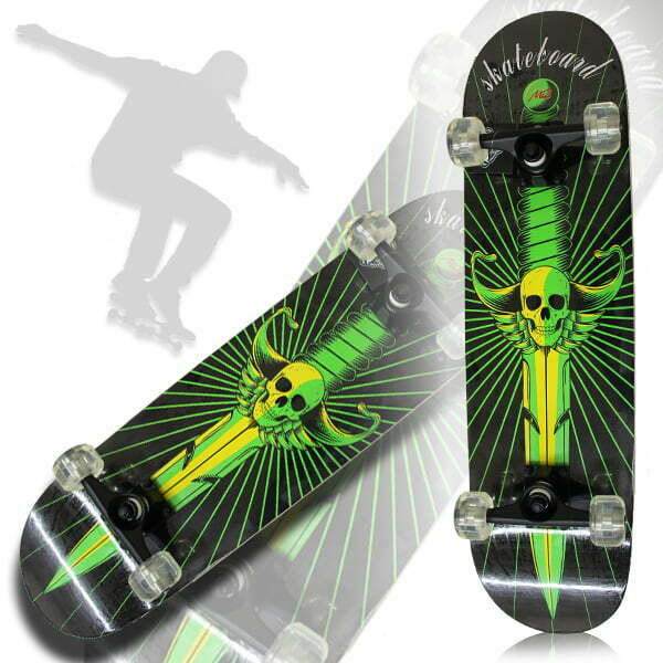 Skull Sword Green Skateboard 24301330@
