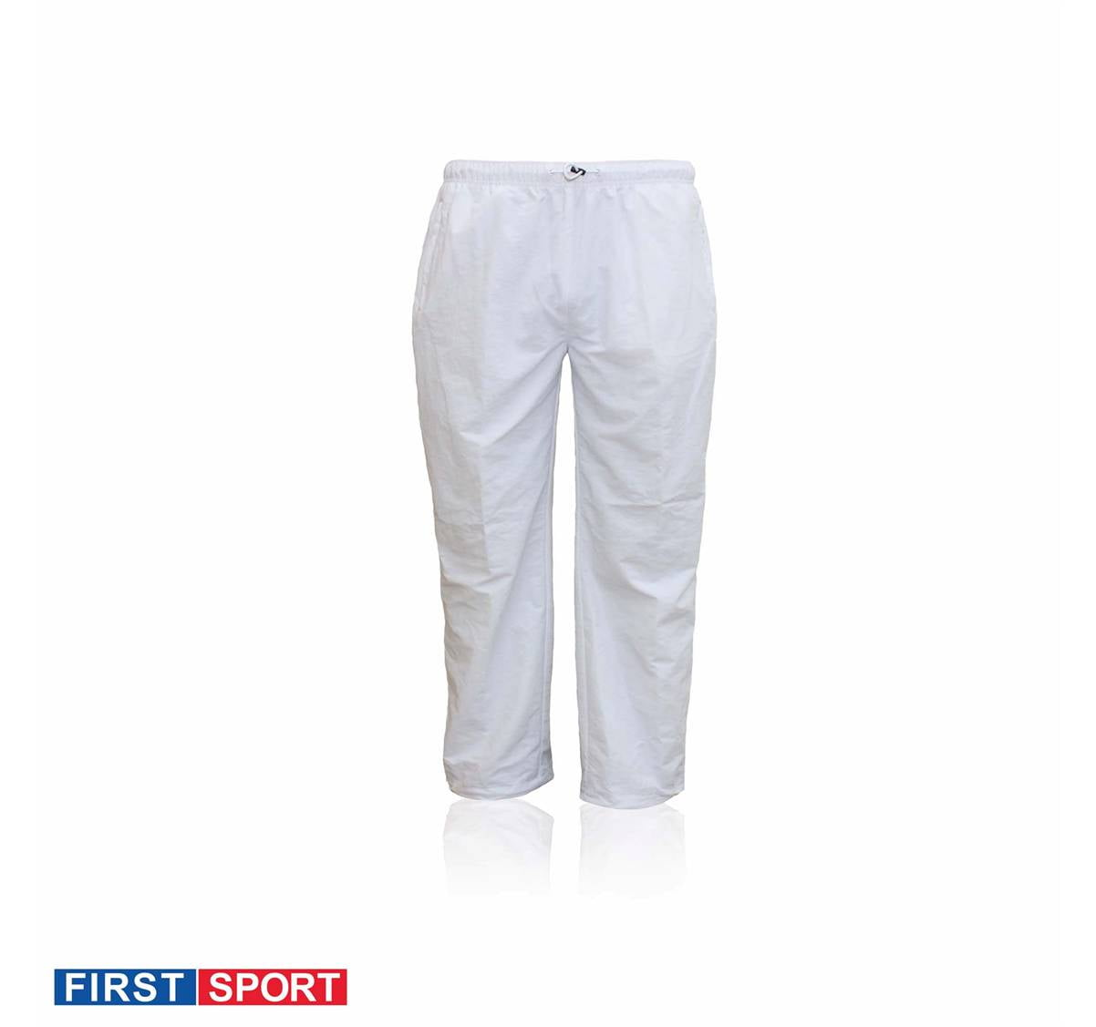 First Sport Taslon Track Pants White Fs9674 Sports