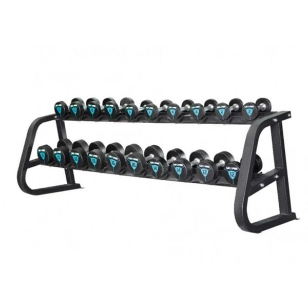 LP8800 2-tier 10 pair dumbbell rack