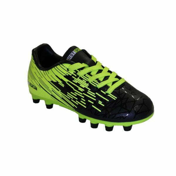 10031112201 – 1122 Soccer Boots Jr – Black-Lime 2
