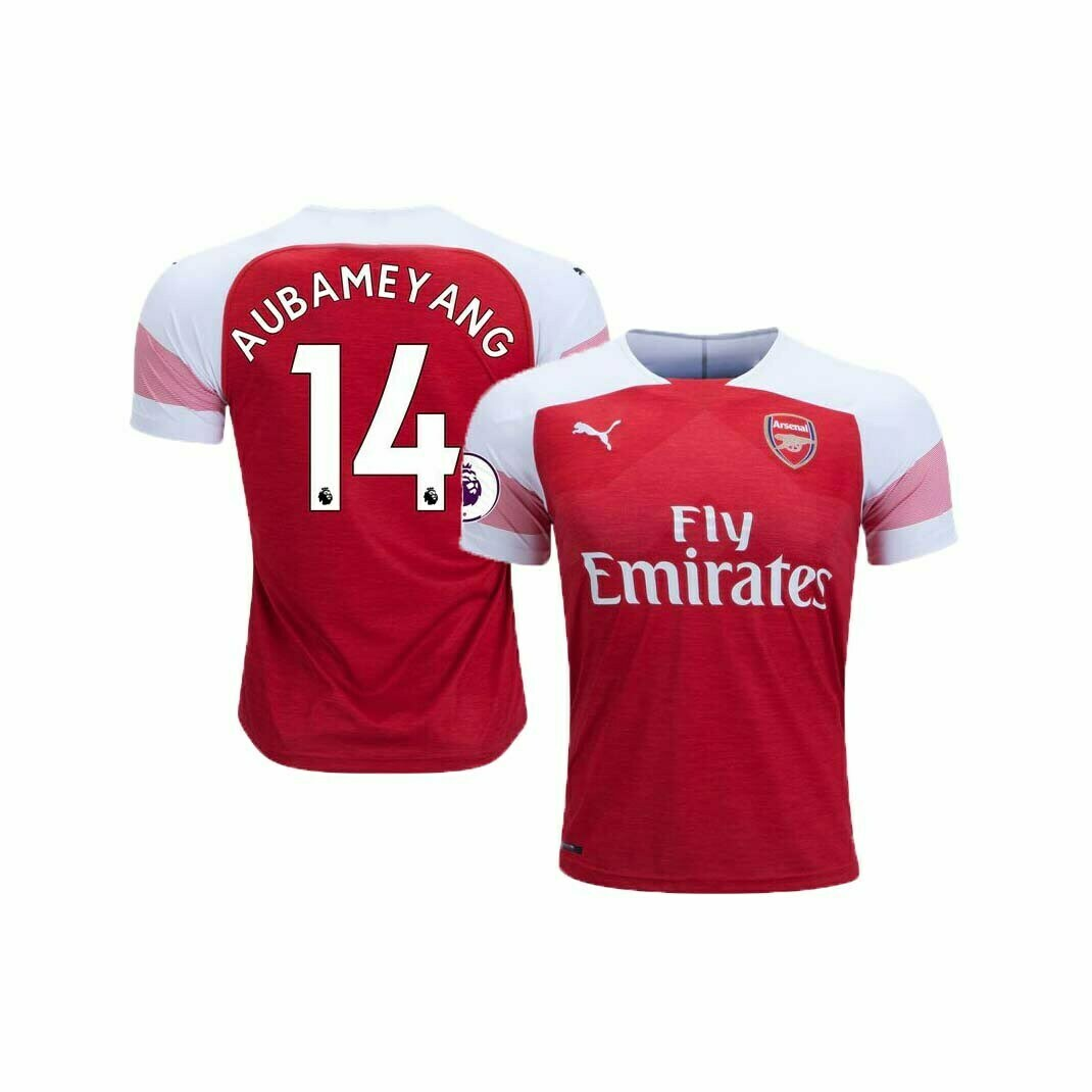 on sale d10e4 8a1be Arsenal Home Jersey (2018/2019): #14 Aubameyang