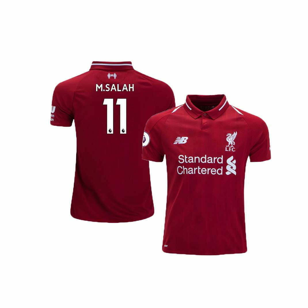 check out 5f7ad 37cac Liverpool Home Jersey (2018/2019): #11 M. Salah