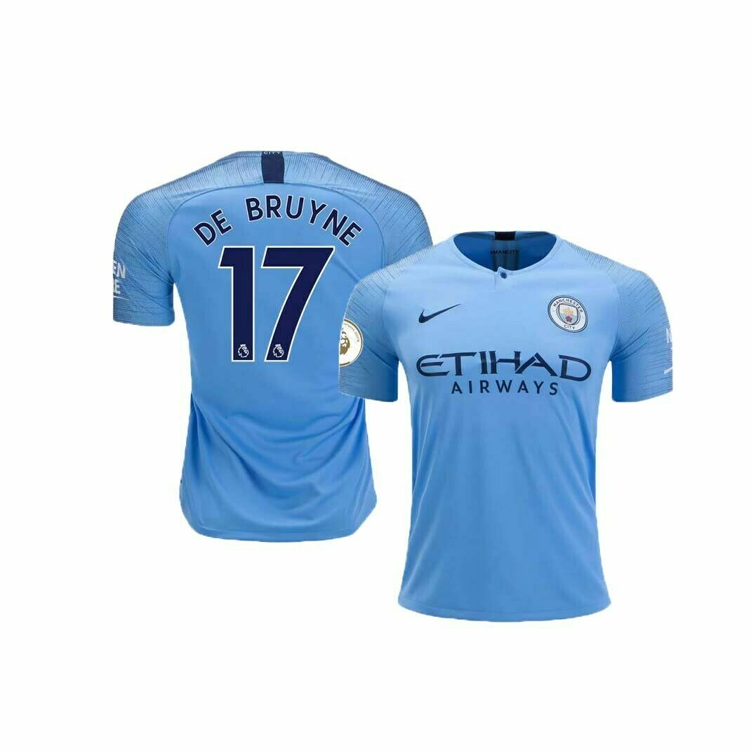 buy popular 440bd 8c236 Manchester City Home Jersey (2018/2019): #17 De Bruyne