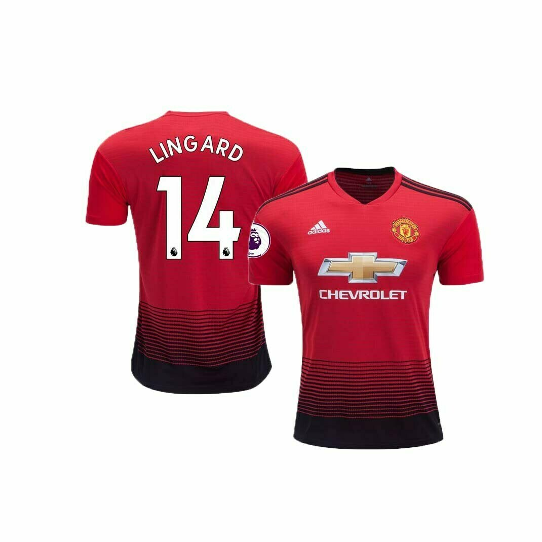 brand new 8af1a b0b16 Manchester United Home Jersey (2018/2019): #14 Lingard