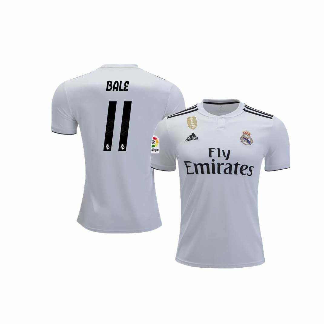 00b681f9a Real Madrid Home Jersey (2018 2019)   11 Bale