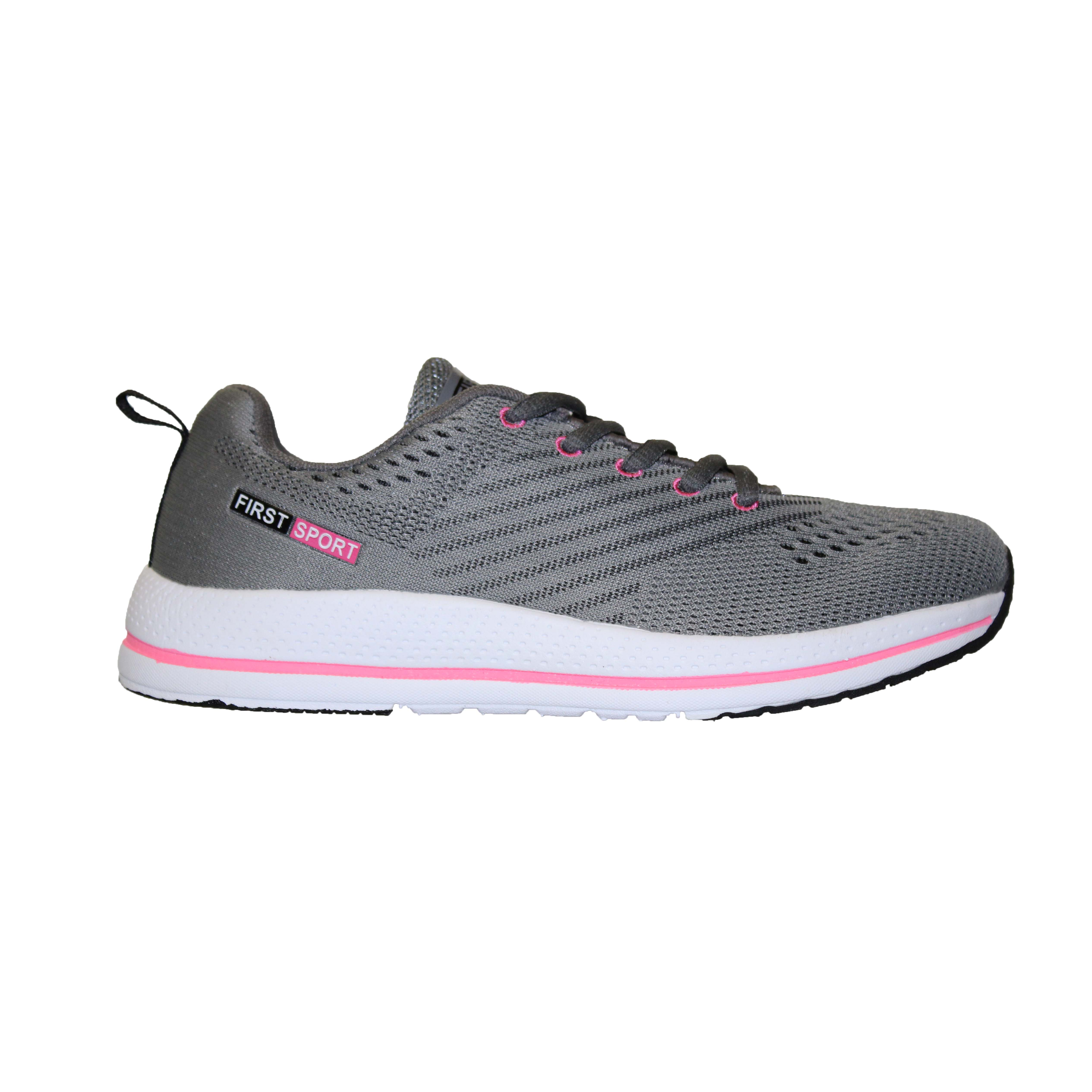 san francisco 8a63b 8aca0 (Sale) First Sport Ladies Running Shoes: (05252) Grey/Knockout Pink
