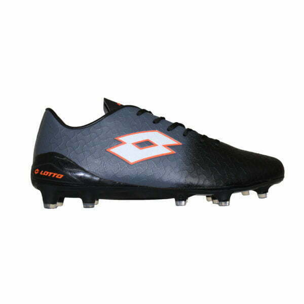 4019050800 – Men Soccer Boots – Black-Dark Grey-Fluoresent Orange 1