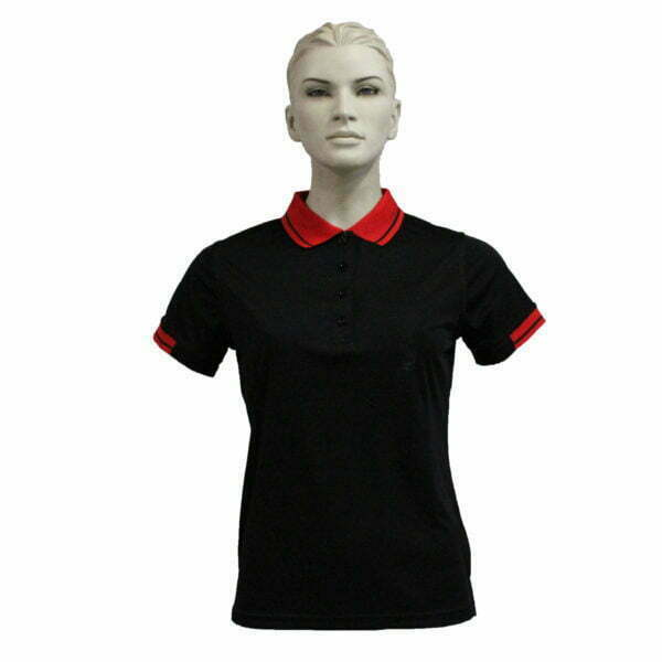 FS3320 – Lds Polo – Black-Red
