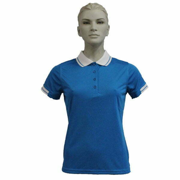 FS3320 – Lds Polo – Pretty Blue-White