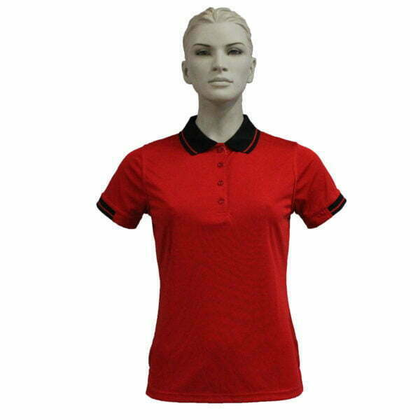 FS3320 – Lds Polo – Red-Black