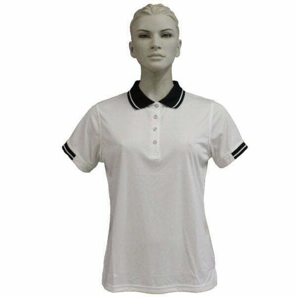 FS3320 – Lds Polo – White-Black