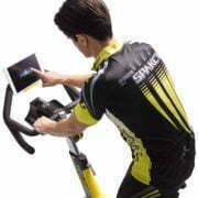 HZ18_MDPROD_GR7 indoor cycle w-ipad_male detail_touching screeen