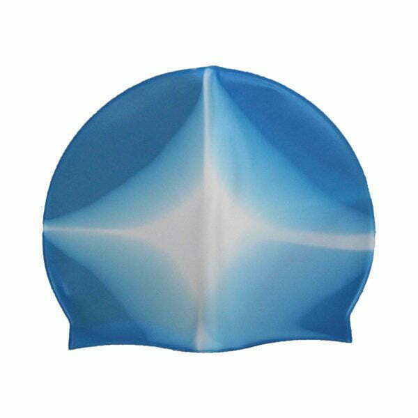 28227 – Swim Cap SG-014 Silicone – Blue-White