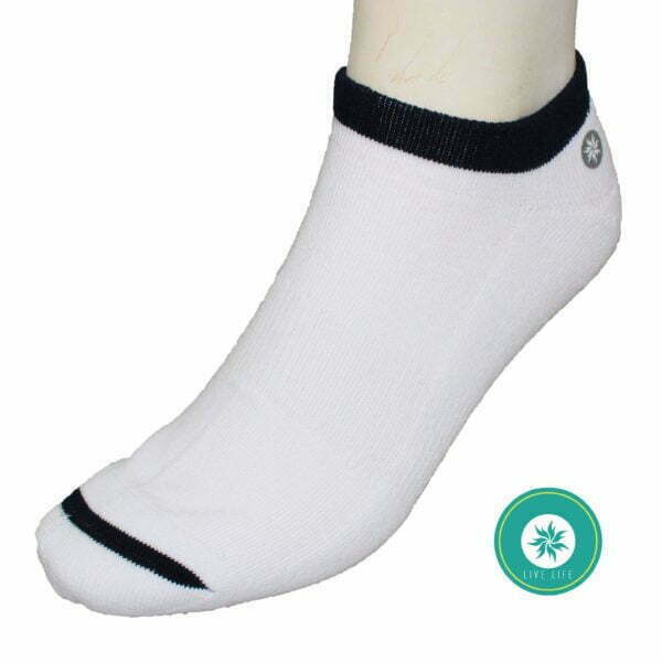 6193500005 – Socks Mn LLS005 Ankle White-Black